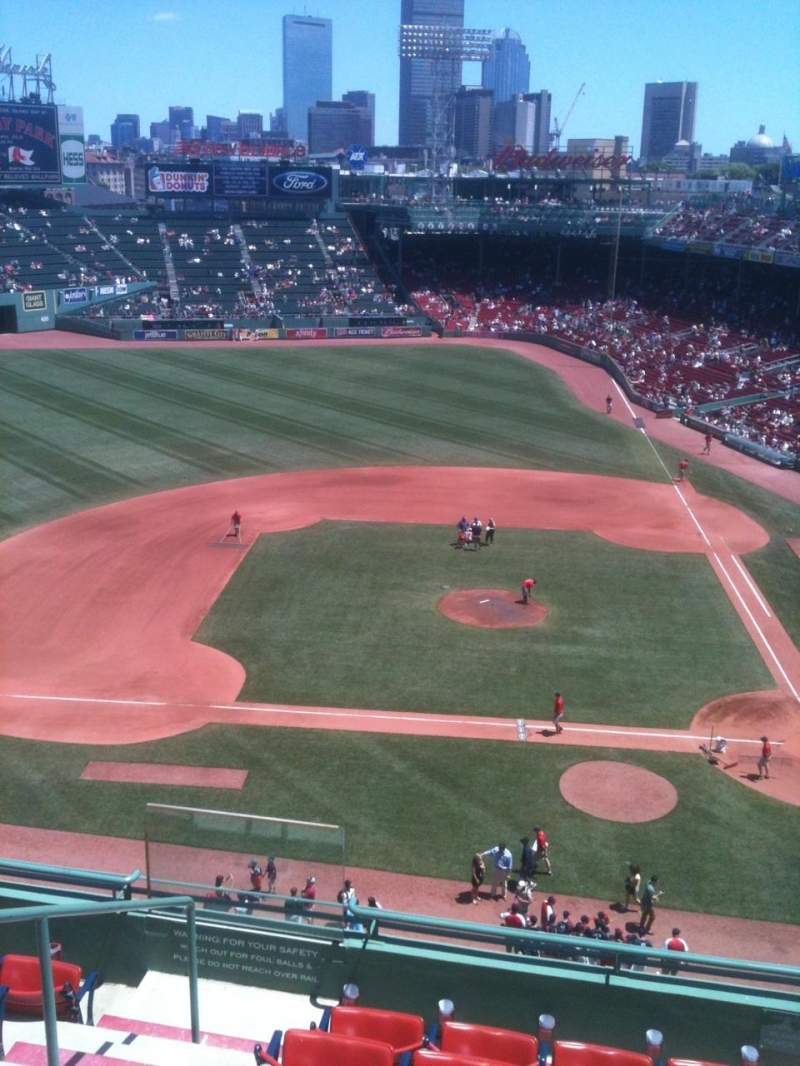 Seating view for Fenway Park Section 4 Row A Seat 13