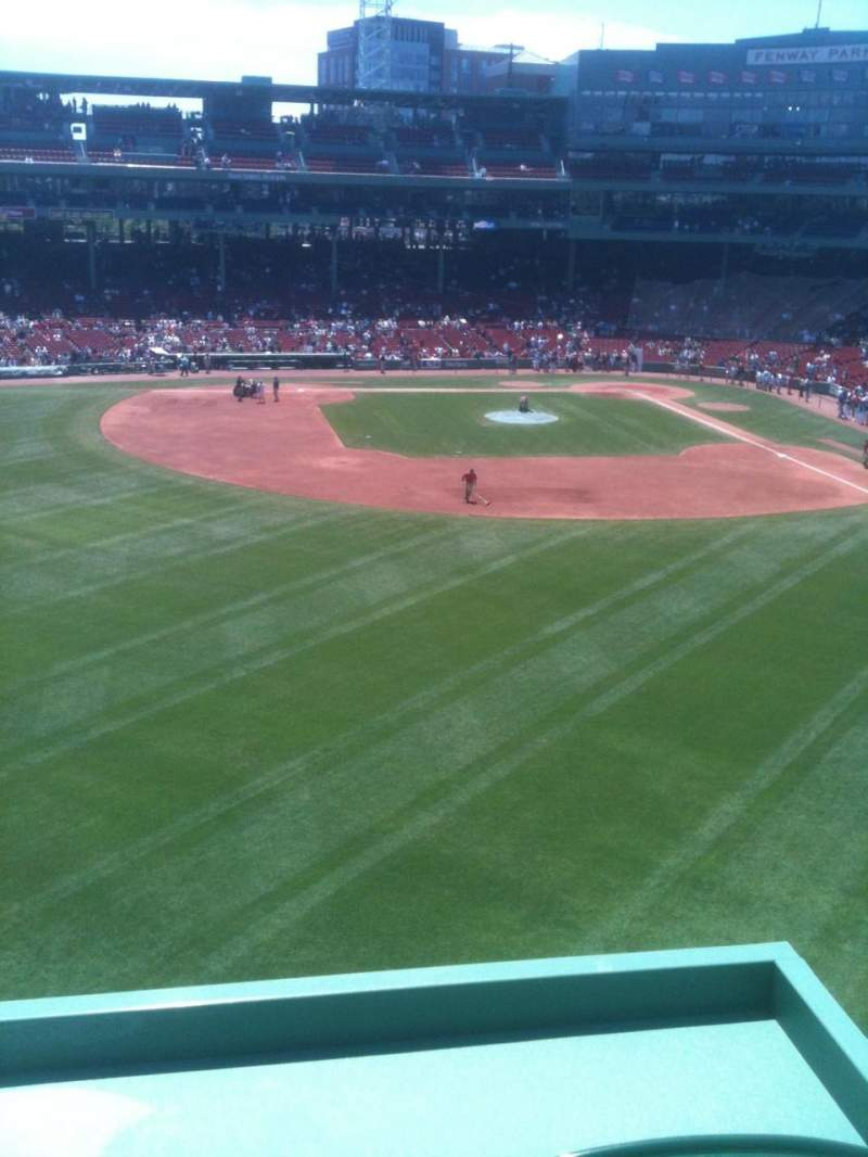 Seating view for Fenway Park Section Green Monster 6 Row 1 Seat 1