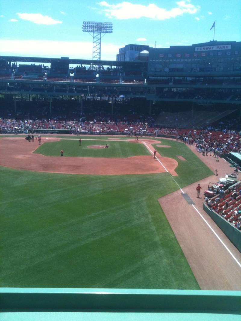 Seating view for Fenway Park Section Green Monster 2 Row 1 Seat 8