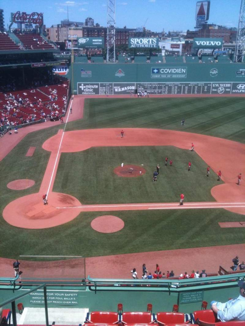 Seating view for Fenway Park Section Pavilion Box 3 Row A Seat 12