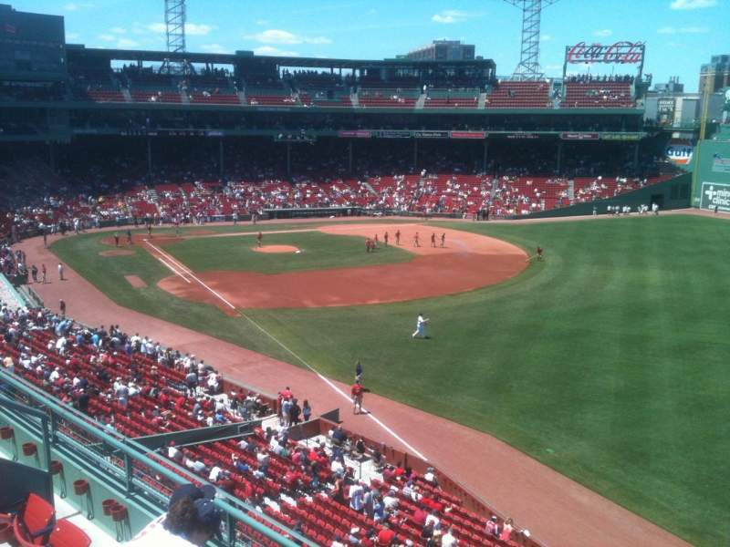 Seating view for Fenway Park Section Right Field Roof Deck Box 31 Row D Seat 8
