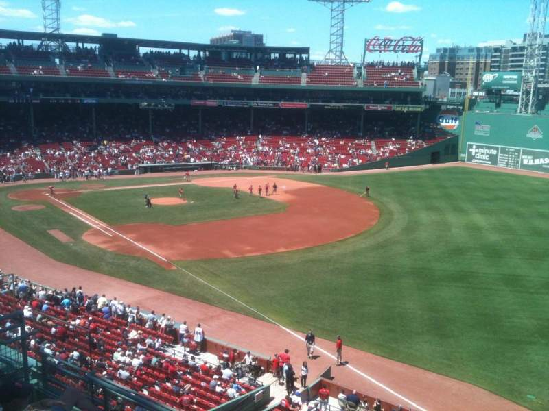 Seating view for Fenway Park Section Right Field Roof Deck Box 25 Row E Seat 8