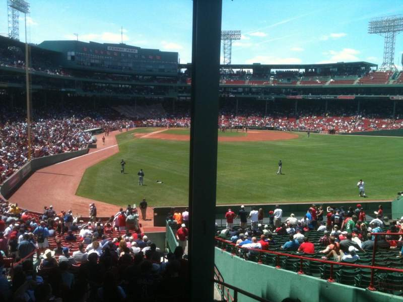 Fenway Park, section: Grandstand 1, row: 10, seat: 4