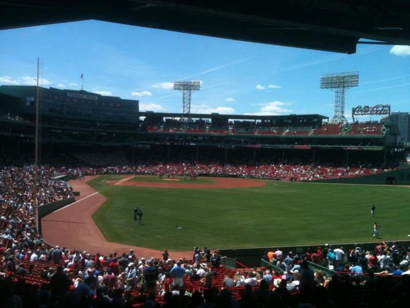 Seating view for Fenway Park Section Grandstand 2 Row 9 Seat 16