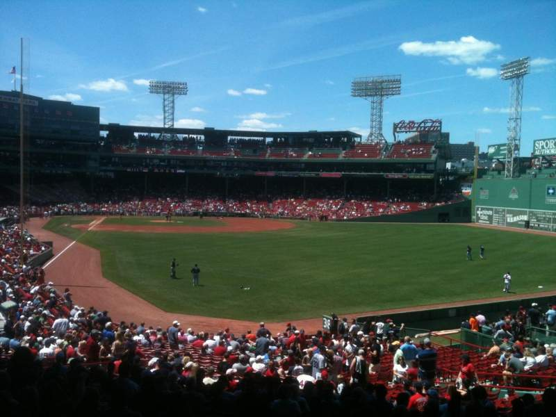 Seating view for Fenway Park Section Grandstand 3 Row 9 Seat 11