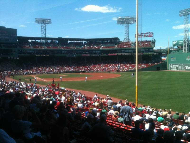 Seating view for Fenway Park Section Grandstand 6 Row 1 Seat 21