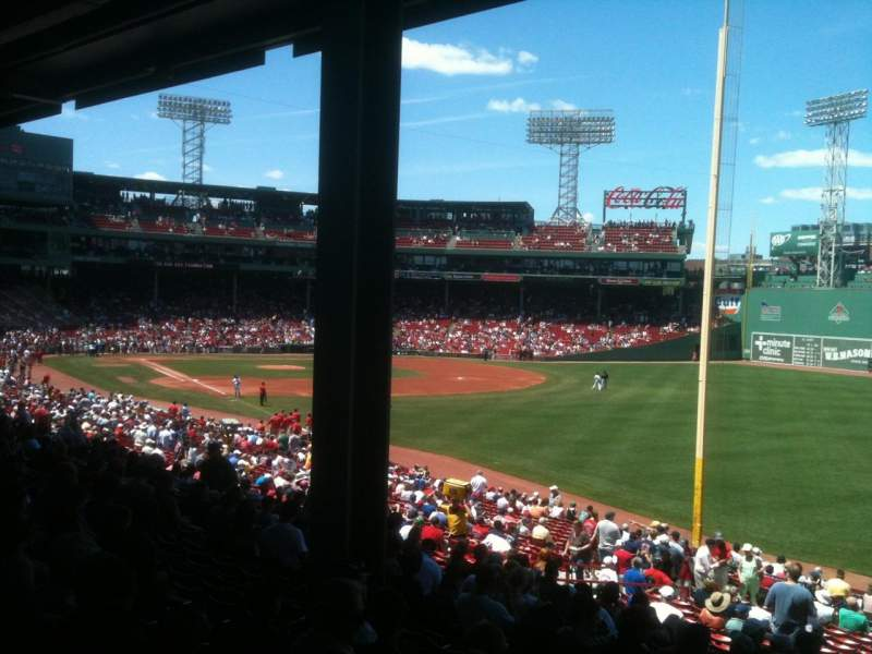 Seating view for Fenway Park Section Grandstand 7 Row 6 Seat 1