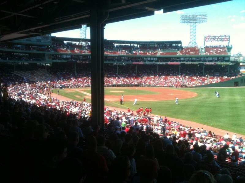 Seating view for Fenway Park Section Grandstand 7 Row 9 Seat 22