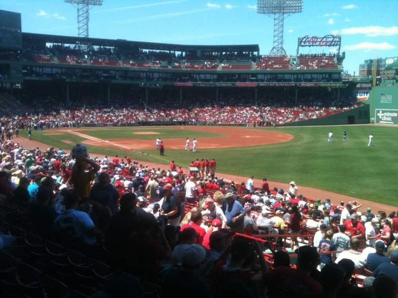 FENWAY PARK, section Grandstand 8, home of Boston Red Sox