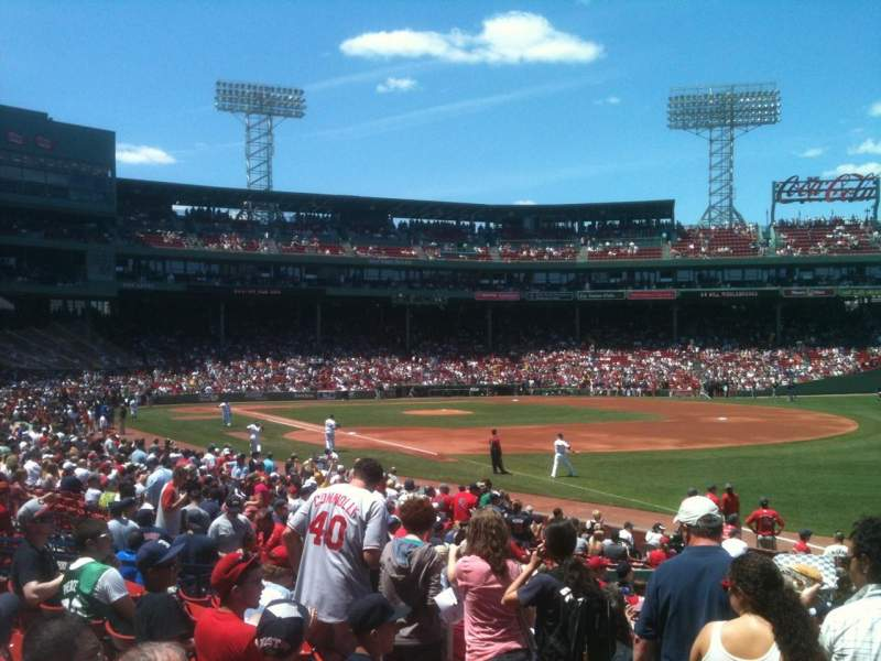 Seating view for Fenway Park Section Grandstand 9 Row NN Seat 4