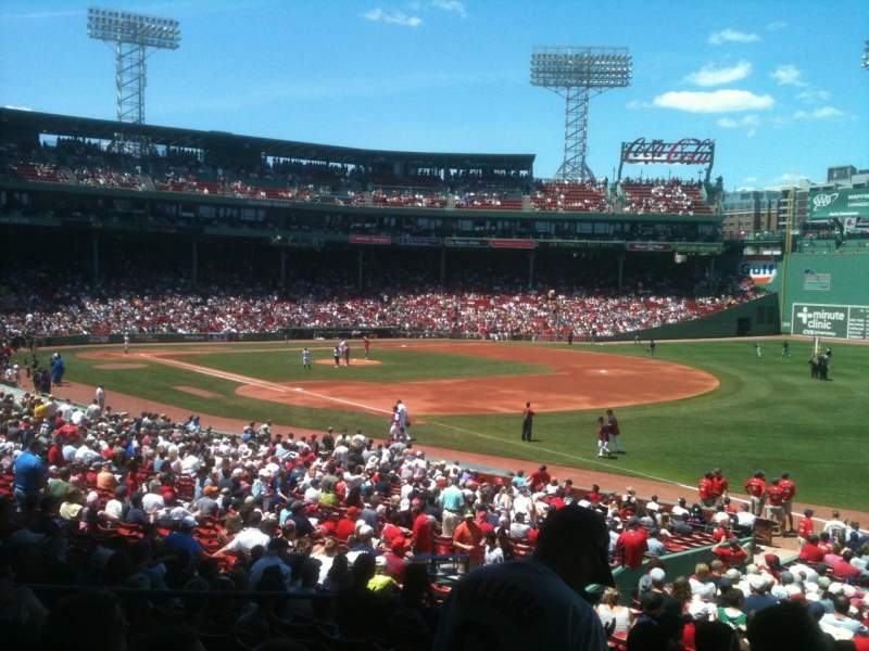Seating view for Fenway Park Section Grandstand 10 Row 2 Seat 4