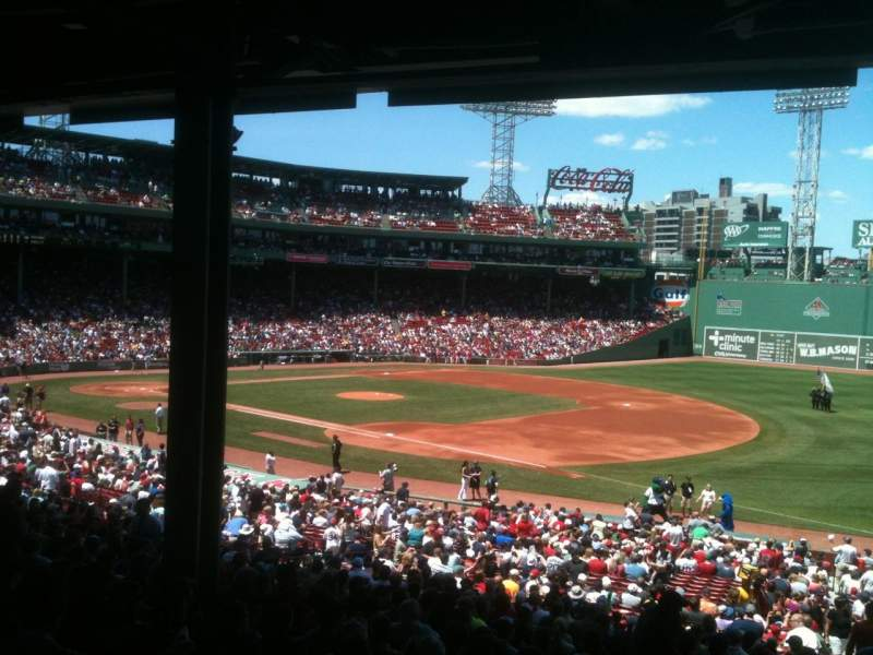 Seating view for Fenway Park Section Grandstand 12 Row 11 Seat 1
