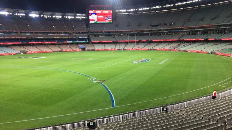 Seating view for Melbourne Cricket Ground Section N55 Row A Seat 9