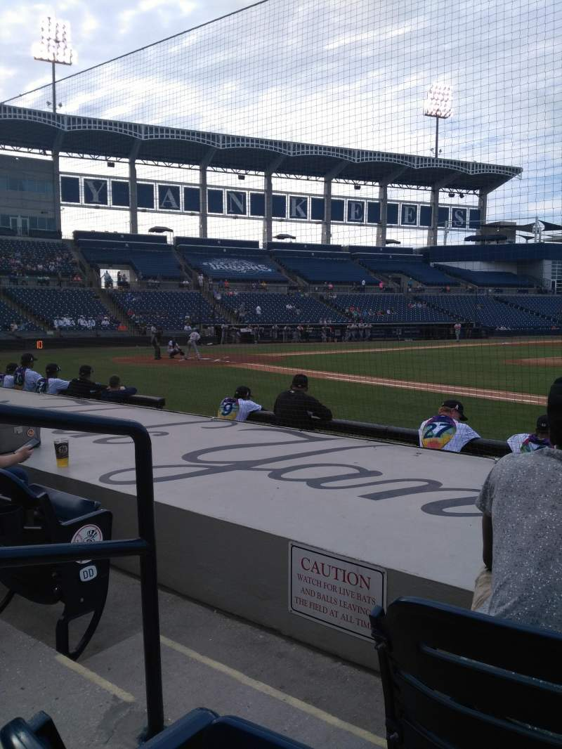George M. Steinbrenner Field, section: 105, row: Ff, seat: 19