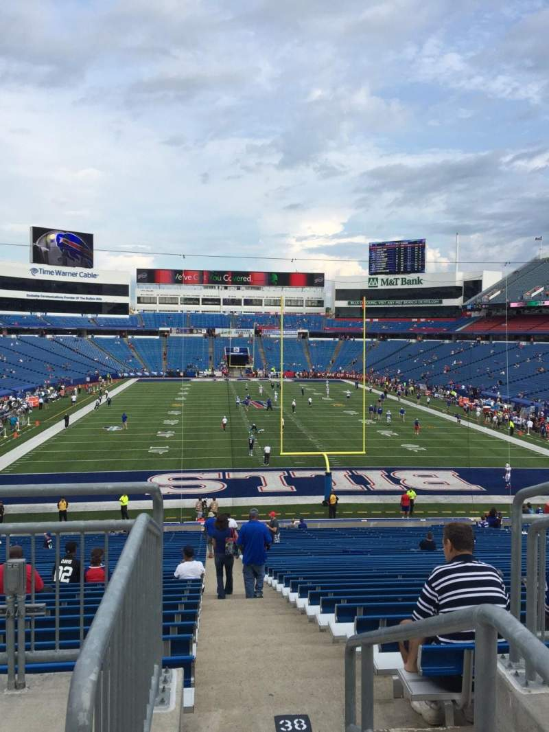 Seating view for New Era Field Section 101 Row 38 Seat 1