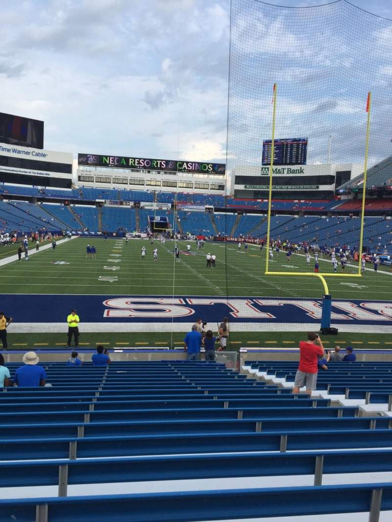 Seating view for New Era Field Section 101 Row 21 Seat 7