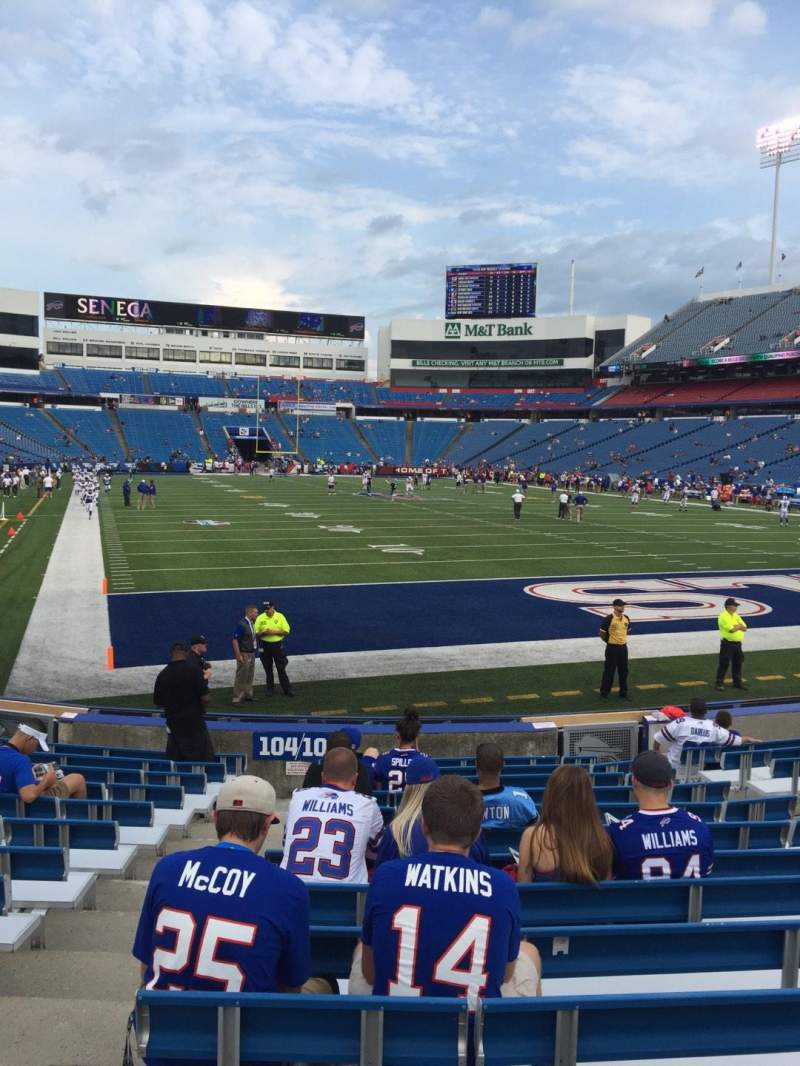 Seating view for New Era Field Section 103 Row 14 Seat 10