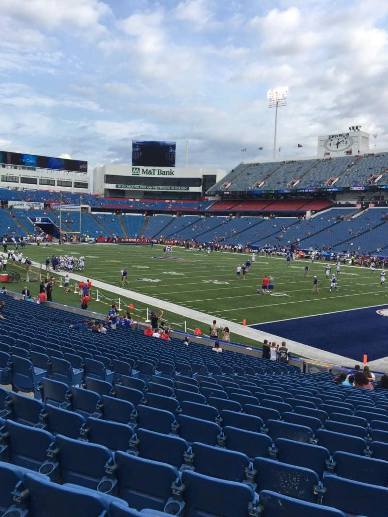 Seating view for New Era Field Section 106 Row 25 Seat 7