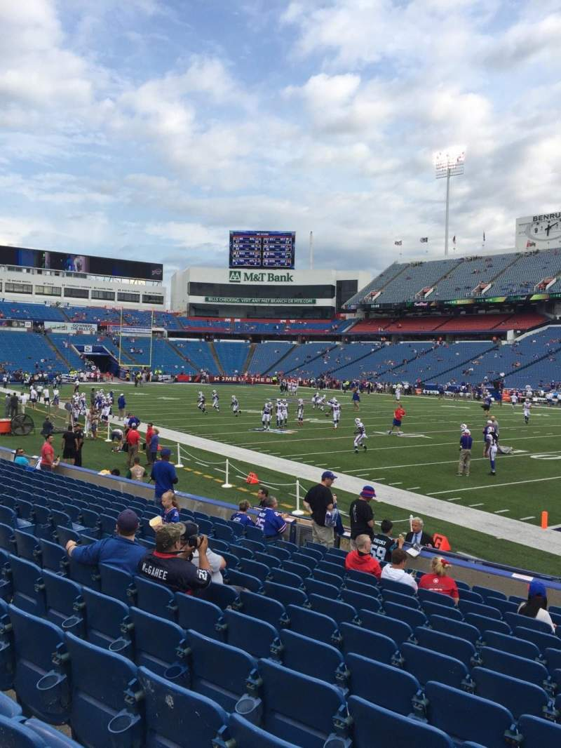 Seating view for New Era Field Section 107 Row 13 Seat 7