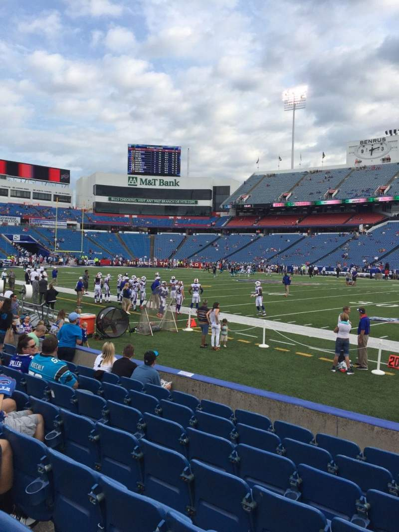 Seating view for New Era Field Section 109 Row 8 Seat 5