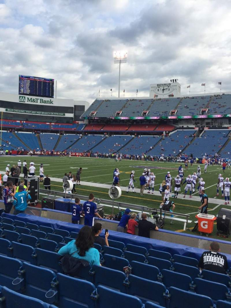Seating view for New Era Field Section 110 Row 11 Seat 8
