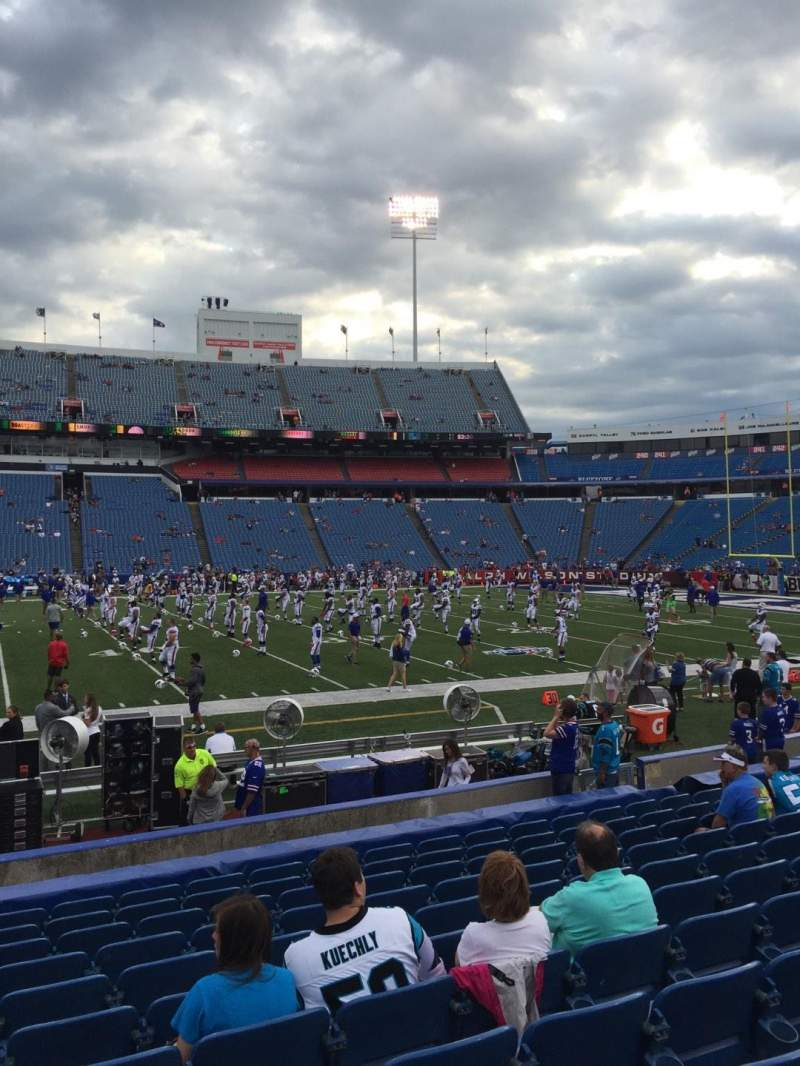 Seating view for New Era Field Section 111 Row 14 Seat 17