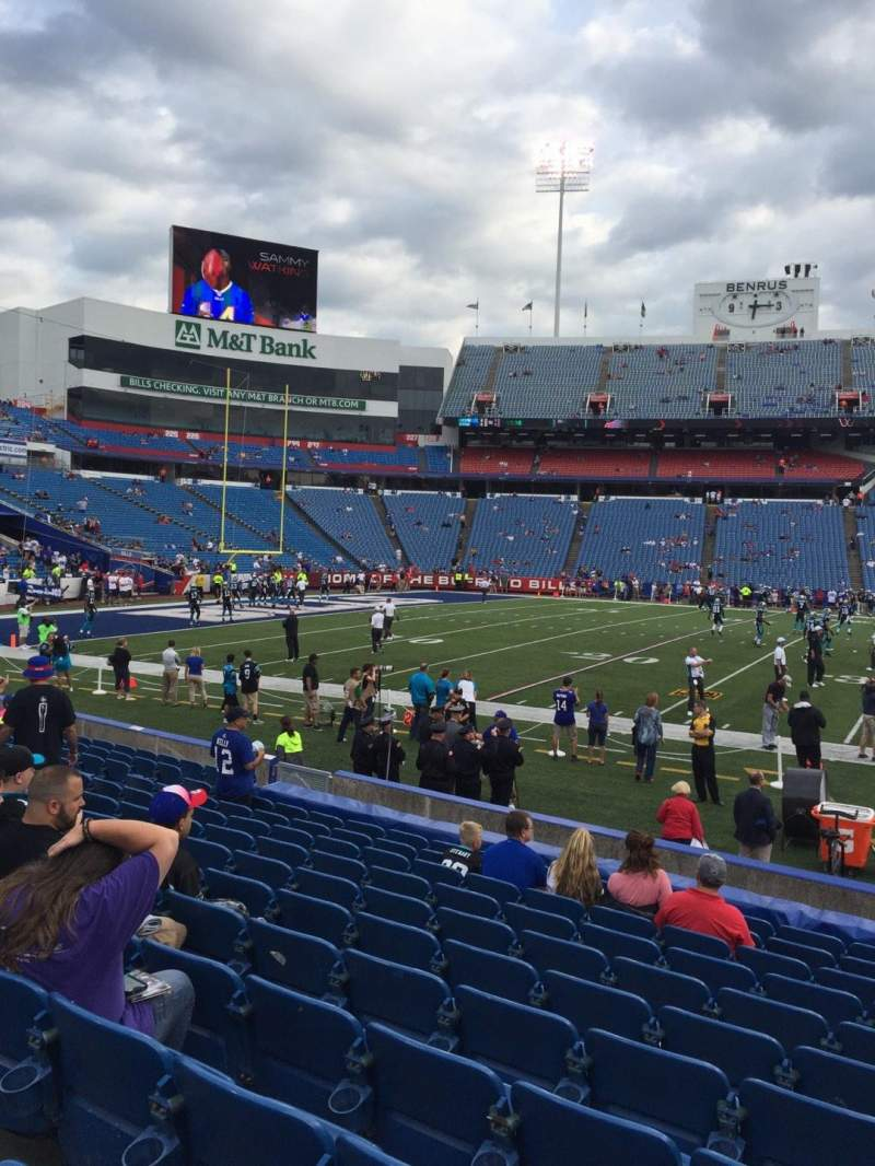 Seating view for New Era Field Section 113 Row 14 Seat 6