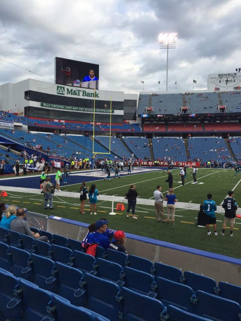 Seating view for New Era Field Section 114 Row 7 Seat 10