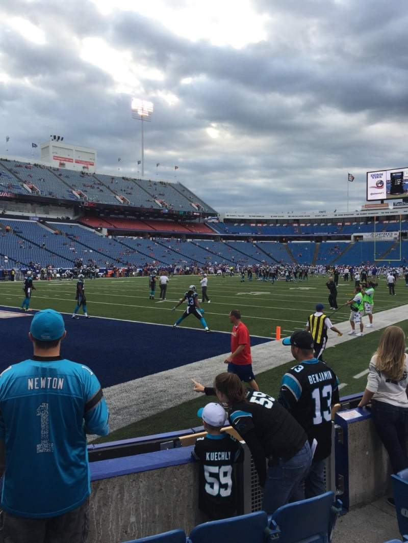 Seating view for New Era Field Section 117 Row 5 Seat 5