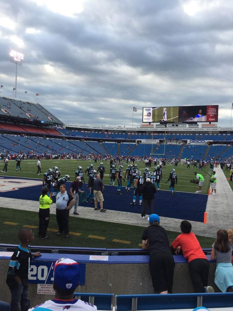Seating view for New Era Field Section 119 Row 6 Seat 8