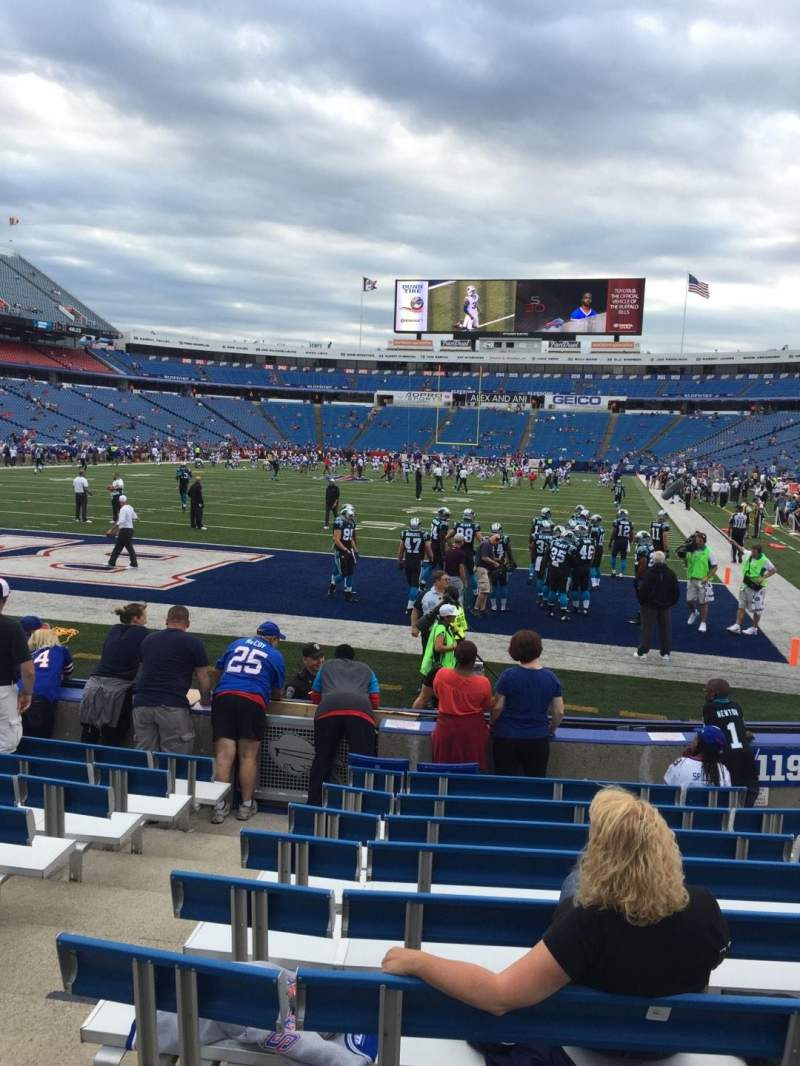 Seating view for New Era Field Section 120 Row 10 Seat 7