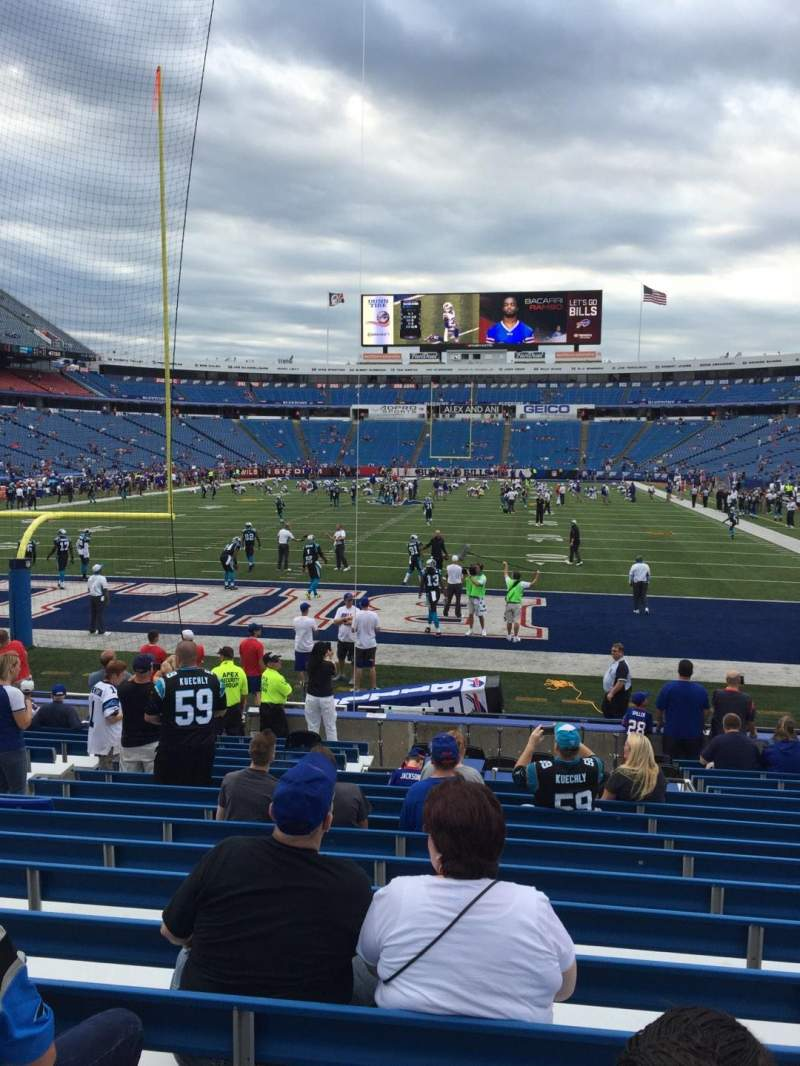 Seating view for New Era Field Section 121 Row 17 Seat 17