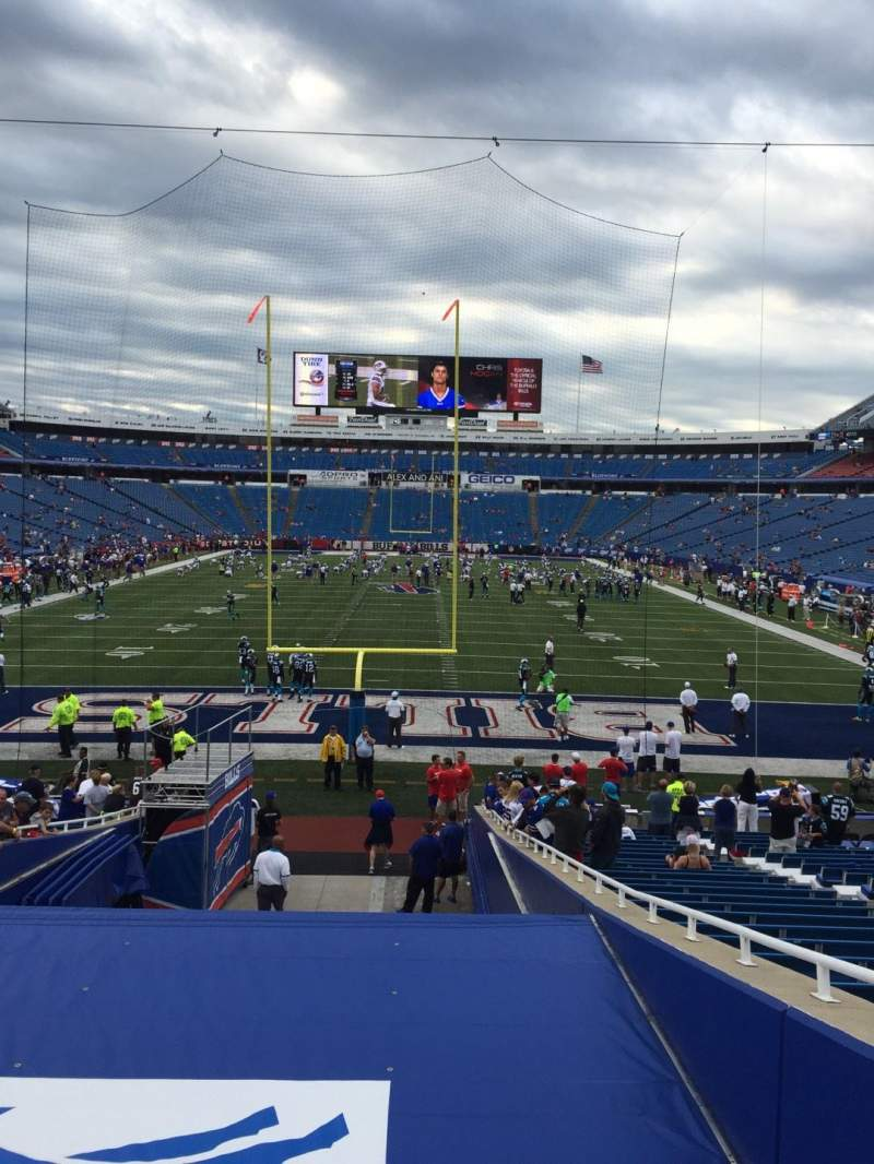 Seating view for New Era Field Section 122 Row 29 Seat 10