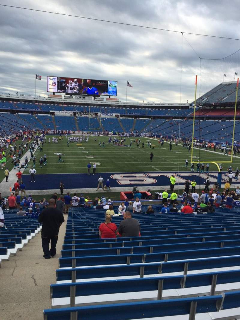 Seating view for New Era Field Section 123 Row 30 Seat 25
