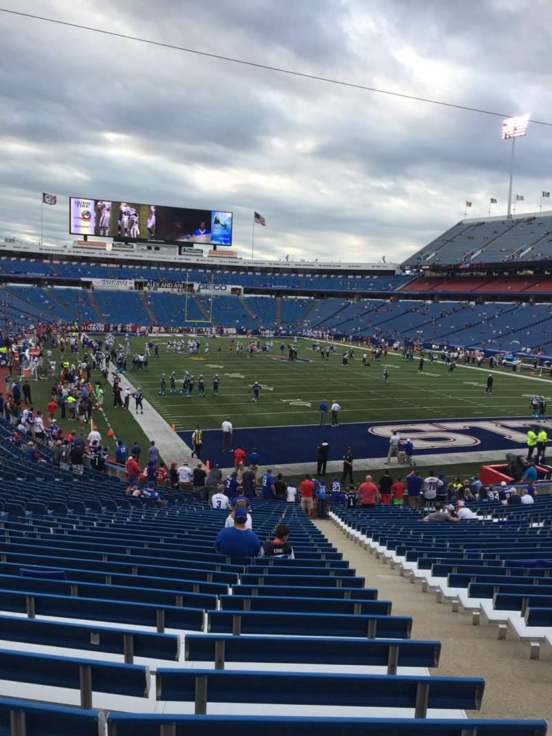 Seating view for New Era Field Section 125 Row 31 Seat 3
