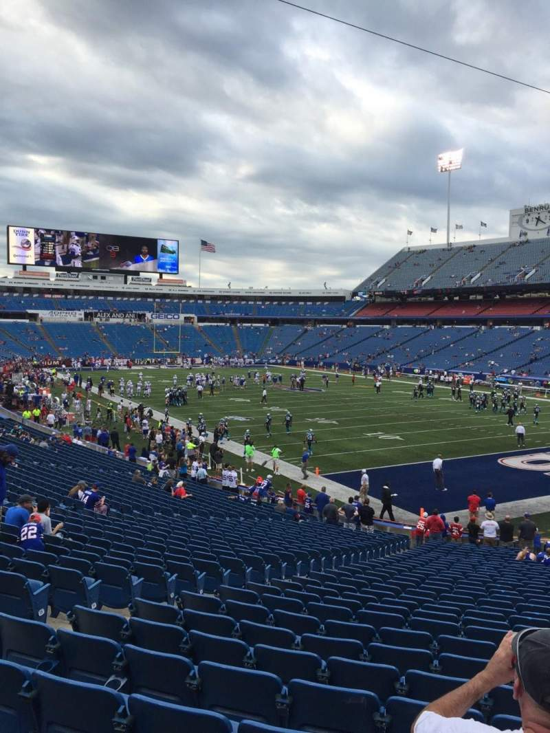 Seating view for New Era Field Section 126 Row 32 Seat 12