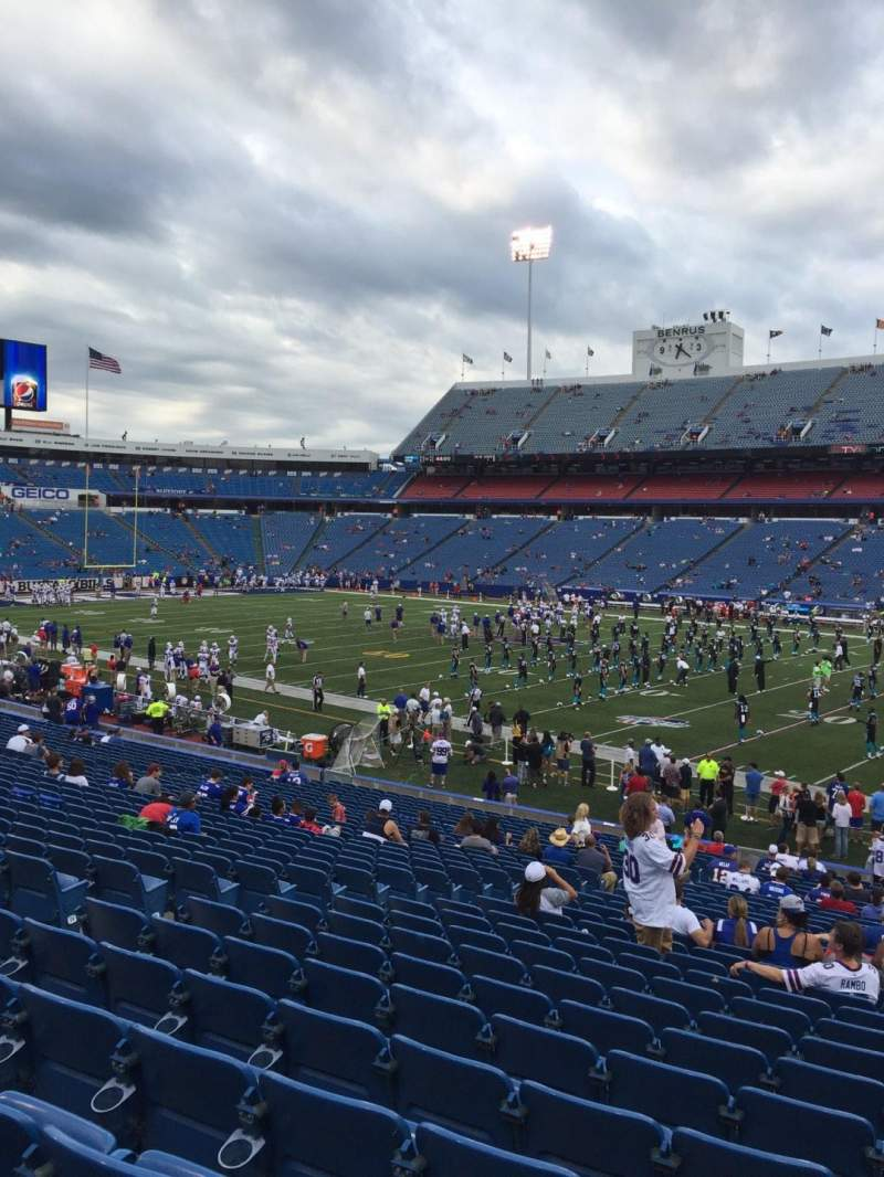 Seating view for New Era Field Section 130 Row 31 Seat 16