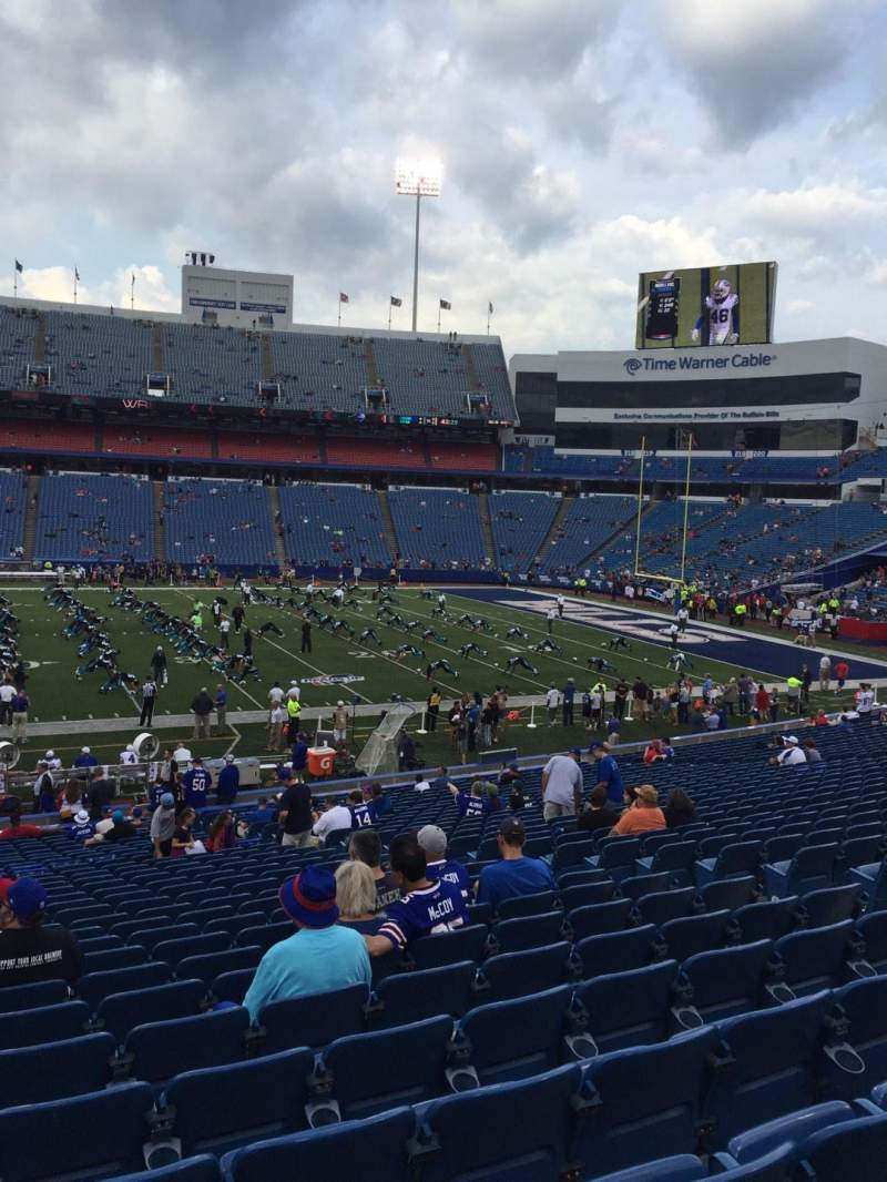 Seating view for New Era Field Section 133 Row 32 Seat 10