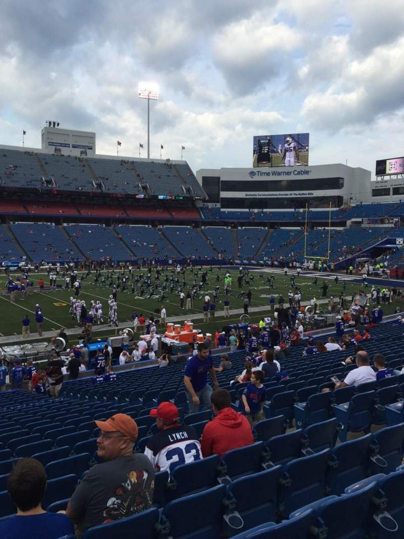 Seating view for New Era Field Section 135 Row 27 Seat 8