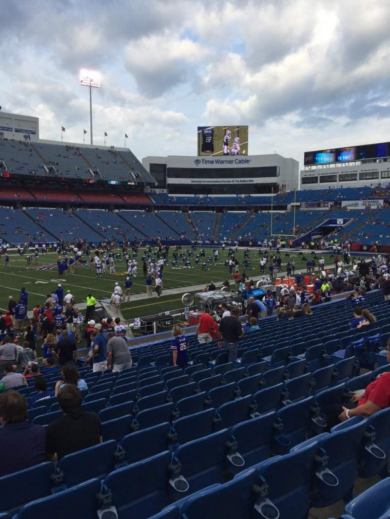 Seating view for New Era Field Section 136 Row 20 Seat 11