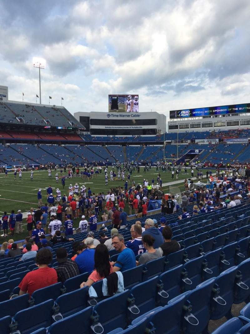 Seating view for New Era Field Section 137 Row 19 Seat 19
