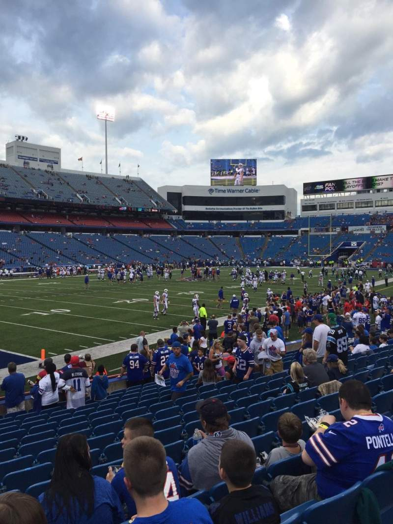 Seating view for New Era Field Section 138 Row 16 Seat 16