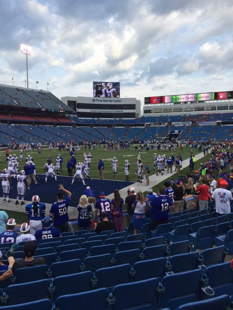 Seating view for New Era Field Section 140 Row 12 Seat 7