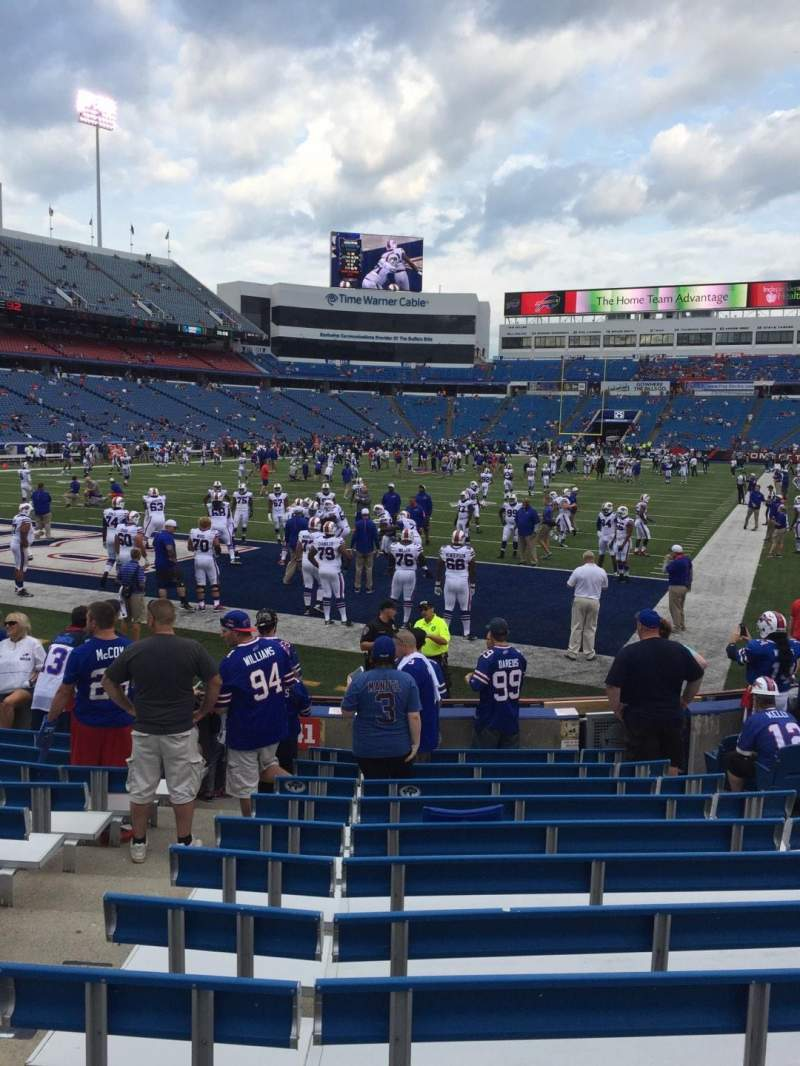 Seating view for New Era Field Section 141 Row 12 Seat 8