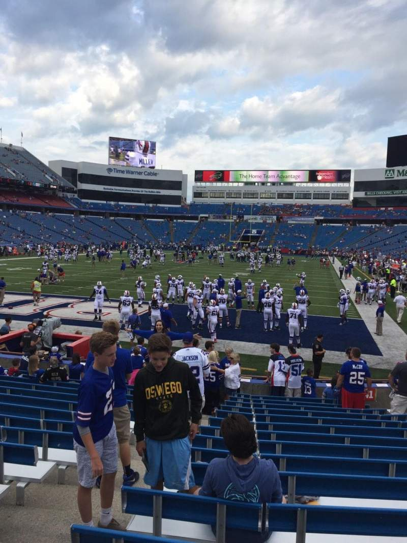 Seating view for New Era Field Section 142 Row 16 Seat 10