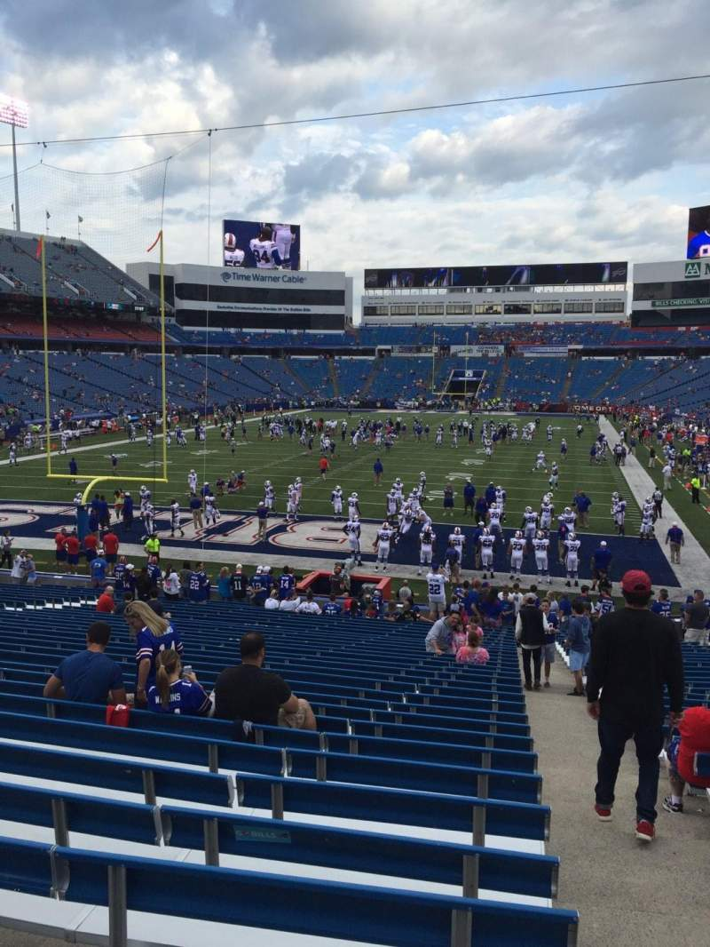 Seating view for New Era Field Section 143 Row 31 Seat 1