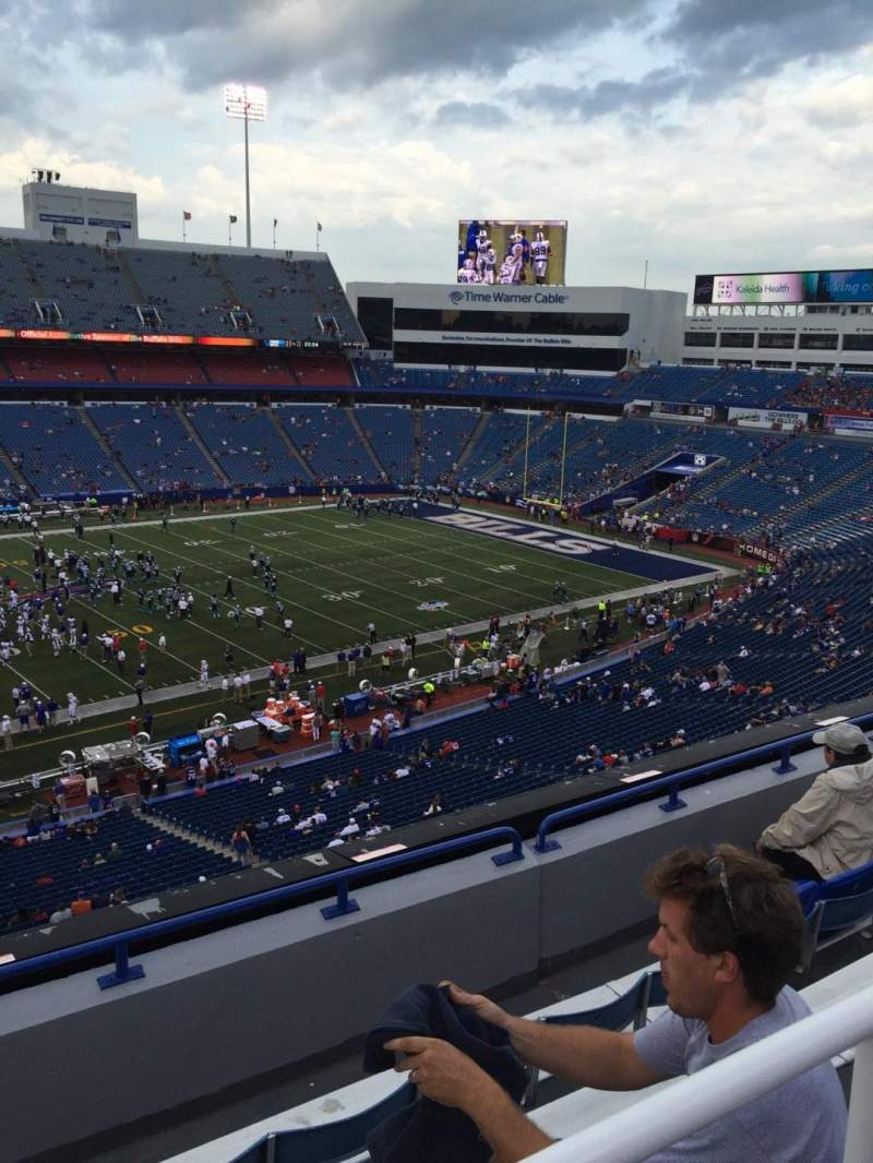Seating view for New Era Field Section 335 Row 5 Seat 26