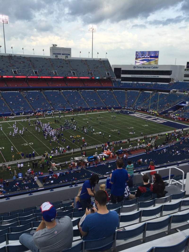 Seating view for New Era Field Section 336 Row 12 Seat 13