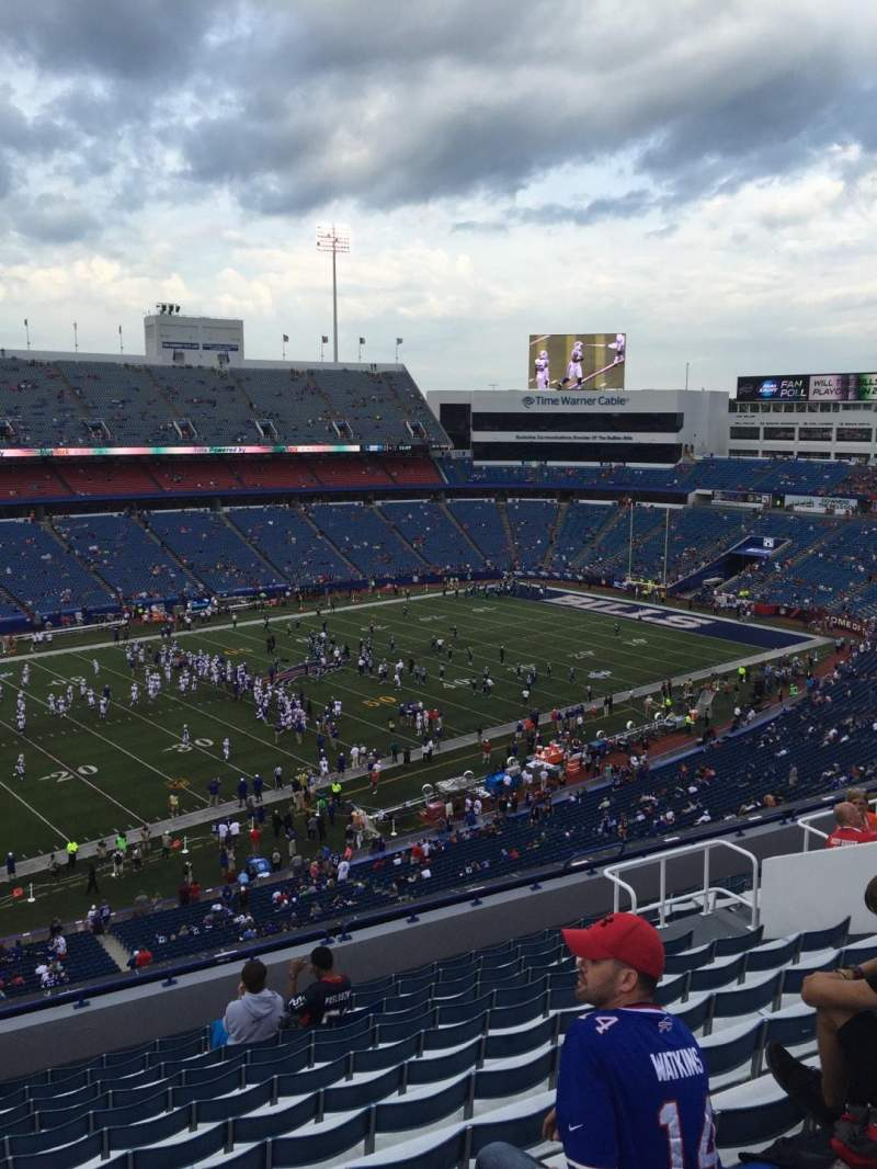 Seating view for New Era Field Section 337 Row 14 Seat 15