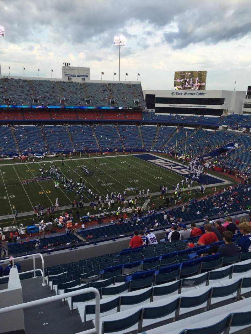 Seating view for New Era Field Section 334 Row 14 Seat 27